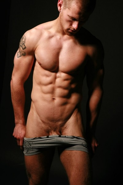 Jason muscular and great abs