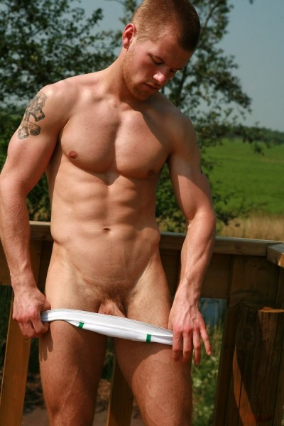 Jason nude in nature!